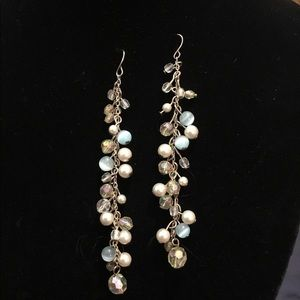 "Vintage hand crafted beautiful earrings 4""L"